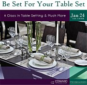 Be Set For Your Table Set - A Class In Table Setting & More