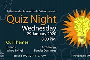 Quiz Night at Maison des Jeunes et de la Culture