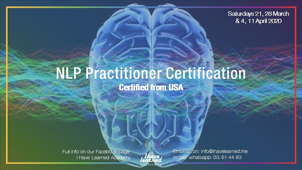 NLP practitioner Certification from USA - ONLINE ...