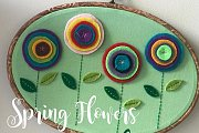 Spring Flowers Felt Hoop at Alwan Salma