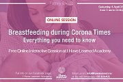 Breastfeeding during Corona times - Free Online Session by I Have Learned Academy