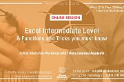 Excel Intermediate Level & Useful Tips - Online Workshop by I Have Learned Academy