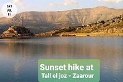 Spectacular Sunset Hiking at Tall el Joz - Zaarour with GREEN STEPS