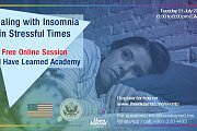 Dealing with Insomnia in Stressful Times - FREE Online Session by I Have Learned Academy