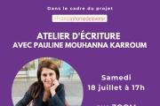 Francophonie de l'avenir: Atelier avec Pauline Mouhanna Karroum