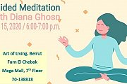 Guided Meditation Session at Art of Living Lebanon