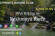 Footprints Wet Hiking in Reshmaya River