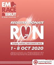 Register, Donate, Run - Global Virtual 5km Charity Race by Beirut Marathon