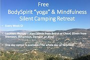 "Free BodySpirit ""yoga"" and Mindfulness weekly Silent Camping Retreats"