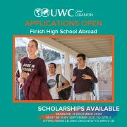 UWC Lebanon Applications 2020 - High School Scholarship Program