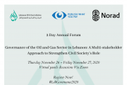 Governance of the Oil and Gas Sector in Lebanon: A Multi-stakeholder Approach to Strengthen Civil Society's Role