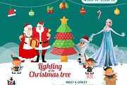 Lighting of The Christmas Tree  with Elsa , Mama Claus , Santa , Olaf & The Elves at Talent Square, The Village Dbayeh