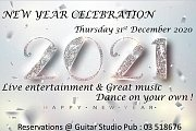 New Year's Eve 2021 at Guitar Studio