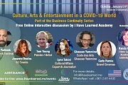 Culture, Arts & Entertainment in a COVID-19 world - Free Online Panel Discussion by I Have Learned Academy
