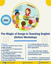The Magic of Songs in Teaching English (Online Workshop)