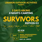Survivors - 5 days Hike, 4 Nights Camp - Lebanon Outdoor Activities - LOA