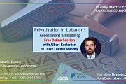 Privatization in Lebanon: Assessment & Roadmap - Free Online Session by I Have Learned Academy & KAS