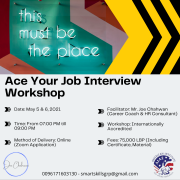 Ace Your Job Interview Workshop - With Joe Chahwan