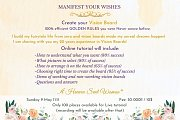 """""""How to Manifest our Wishes"""" - Online Workshop"""