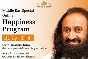 Special Middle East Online Happiness Program, exclusive Session with GURUDEV Sri Sri Ravi Shankar