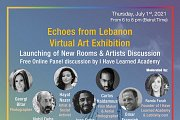 Launching of 2 new rooms & Artists Discussion Echoes from Lebanon: A Collective Virtual Art Exhibition