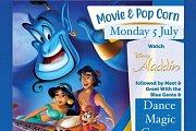 Disney Week  Pop Corn & Movie  with Jasmine and The Blue Genie
