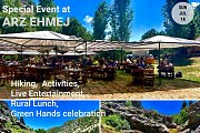 Special Ecotourism Event at Arz Ehmej: Hiking, Activities, Live Band, Rural lunch & celebration with GREEN STEPS