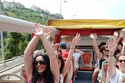 Ladies' Day out! Msailha Fort & Yoga session by the beach with City Sightseeing - open top double-decker bus.