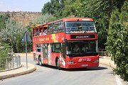Balou Balaa Tannourine & Byblos Crusader Castle in the open top City sightseeing double decker bus.