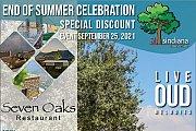 End of summer celebration at Seven Oaks Restaurant
