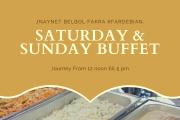 Saturday and Sudany Buffet at Jnaynet Belbol