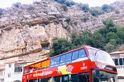 Riyak Railway station & Rayak winery in the open top red double decker sightseeing bus