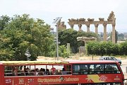 Baalbeck Temples, Zahle & Ksara Caves guided trip in the open top red double decker sightseeing bus