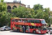 Jaziret el araneb (Palm Island), Tripoli Citadel & Khan El Saboun in the open top red double decker sightseeing bus