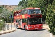 West Bekaa Qaraoun Lake & LaTourba winery in the open top red double decker sightseeing bus