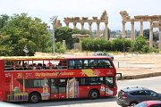 Tyre historical sites guided tour in the open top red double-decker sightseeing bus