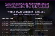 World Space Week 2021 - Lebanon