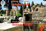 Hiking the Roman Temples trail from Niha temple to Qsarnaba temple with Wine Tour at Chateau Rayak