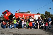 Visite de la caserne des pompiers de la quarantaine avec Neos Kids