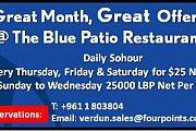 Daily Sohour Buffet @ Blue Patio Rooftop