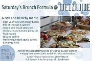 Saturday Brunch at Mezzanine Cafe