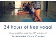 FREE YOGA at Sivananda Yoga Center for the 13th anniversary of the center