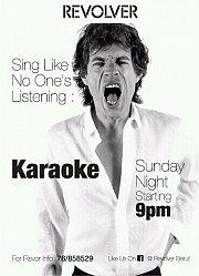 Karaoke at Revolver every Sunday