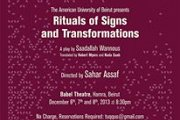 Rituals of Signs and Transformations - Theater Play