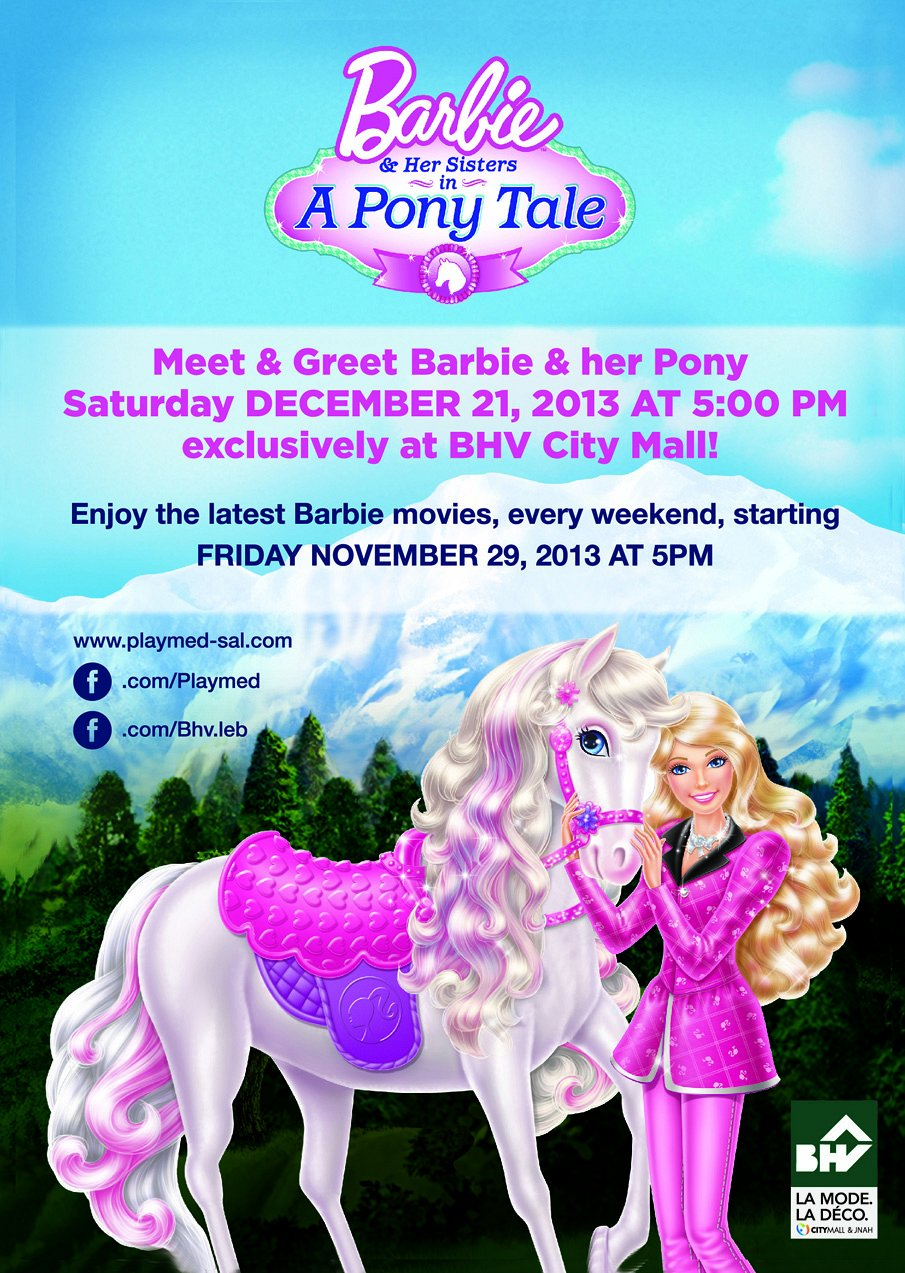 Barbie And Her Sisters In A Pony Tale Coloring Pages Free | 1273x905
