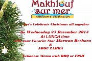 Christmas lunch at Makhlouf sur Mer