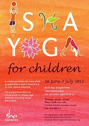Isha yoga sessions for children