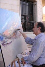 The  164 LIVE Painting Show of the Artist Bernard Renno @ LEBANESE UNIVERSITY