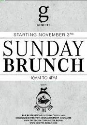 Sunday Brunch at Ginette