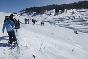 Snowshoeing Hadath el Jebbe with Dale Corazon